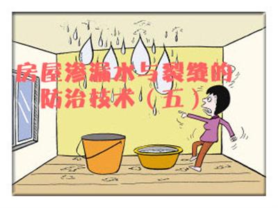 房屋渗漏水与裂缝的防治技术(五)