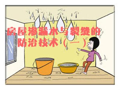 房屋渗漏水与裂缝的防治技术(一)