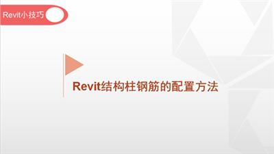 软件小技巧:Revit结构柱钢筋的配置方法