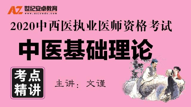 【考点精讲】中医基础理论(2020中西医执业)