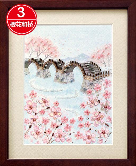 3樱花和桥