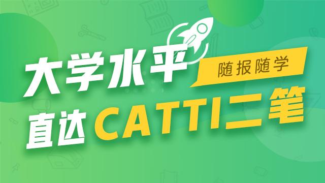 大学水平直达CATTI二笔 随报随学