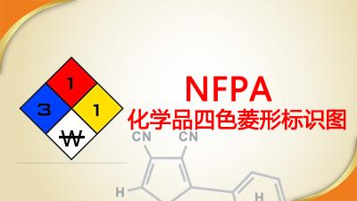 NFPA704化学品四色菱形标识图