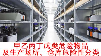 甲乙丙丁戊类危险物品及生产场所、仓库危险性分类