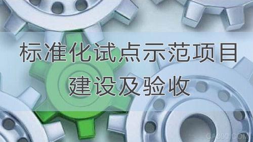 标准化试点示范项目建设及验收培训