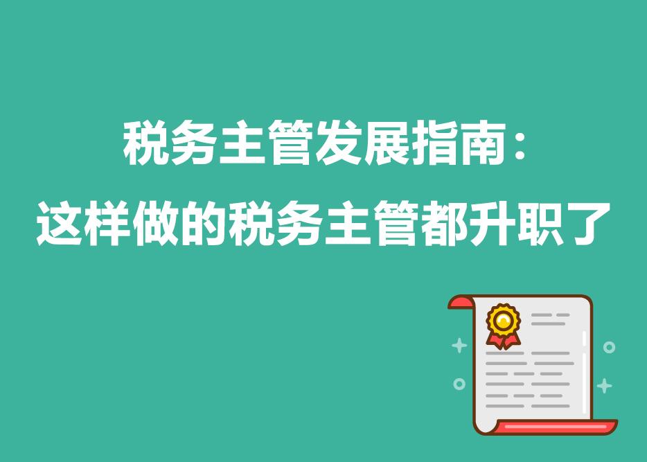 税务主管发展指南:这样做的税务主管都升职了