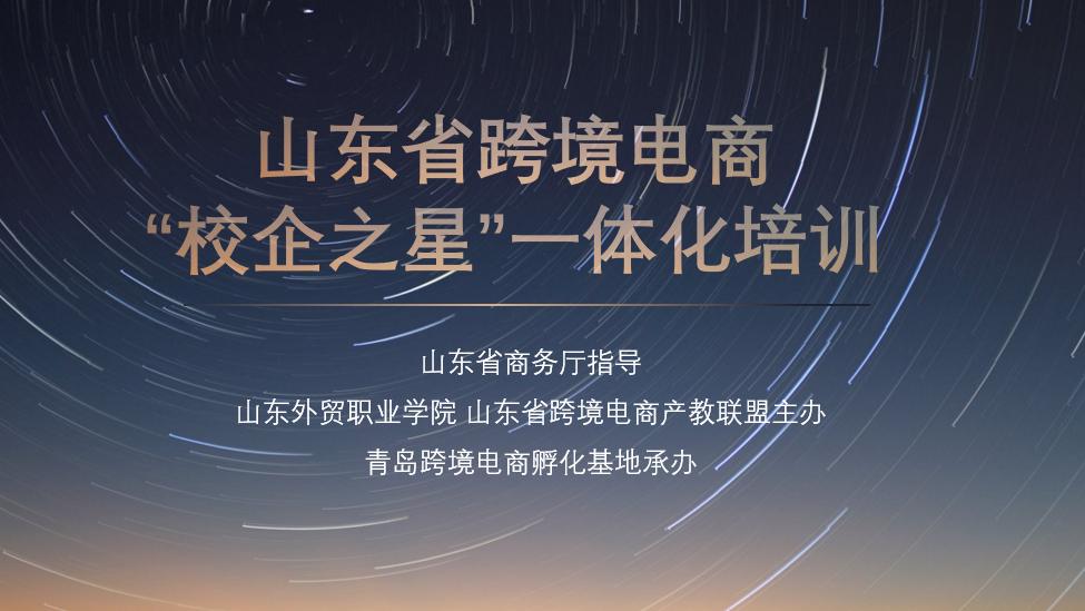 """山东省跨境电商""""校企之星""""一体化培训"""