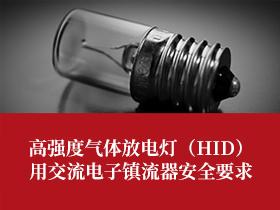 高强度气体放电灯(HID)用交流电子镇流器安全要求的主要项目介绍