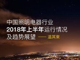 温其东谈中国照明电器行业2018年上半年运行情况及趋势展望