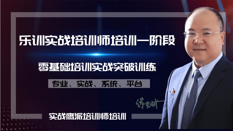 乐训实战培训师TTT一阶段【零基础培训实战突破训练】
